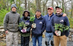 Everyone had a great time. Here are Josh, Stephen's assistant, Wambui, Wilmer, Stephen, and Ryan. At the end of the workshop, Stephen held a raffle and gave some wonderful rose specimens to everyone who attended.
