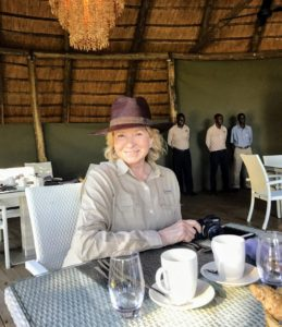 Here I am at the Victoria Falls River Lodge on day-one of our journey. I brought several hats and a lot of clothes from various companies such as Columbia Sportswear that were perfect for this trip - cool, loose and comfortable.