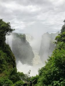 This is Victoria Falls. Victoria Falls, or Mosi-oa-Tunya, is a waterfall in southern Africa on the Zambezi River at the border of Zambia and Zimbabwe.