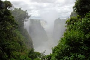Here, it is nearly 75-percent full, but friends who visited about six-months ago, said they saw a very dry Victoria Falls because from September to December the flow of the Zambezi lessens and water levels drop to almost a trickle. We were lucky to see it so full.