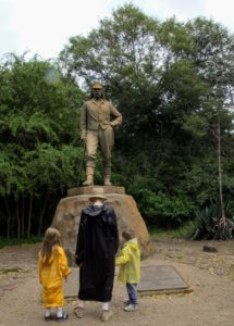 Here, Alexis reads a plaque that talks about Scottish explorer David Livingstone - hailed as one of the most enigmatic explorers of all time, and the first European ever to lay eyes on Victoria Falls.