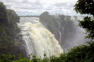 """The noise of Victoria Falls can be heard about 25-miles away, while the spray and mist from the falling water can be seen from about 30-miles away. The local tribes used to call the waterfall Mosi-o-Tunya """"The smoke that thunders""""."""