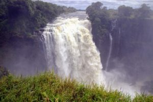 The whole volume of the river pours into the Victoria Falls Gorges - such a view.