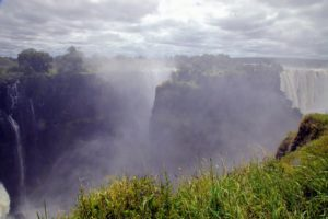 On the Zimbabwean side of the Falls lies The Victoria Falls Rainforest - the only place on earth where it rains all day, everyday; a direct result of the water vapor rising from the Falls.