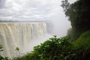 Seeing Victoria Falls was very different from what I had originally envisioned it to be. After seeing old movies about Africa, I thought I would be able to ride under the Falls in a riverboat. This was far from reality - all the water here drops into a gorge.