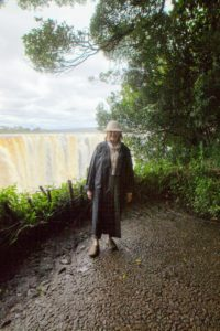 With all the mist from the Falls, we were strongly encouraged to wear raincoats. Here I am in mine - we were actually soaked by the end of the visit.