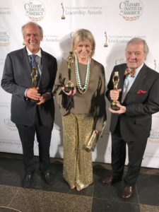 And here I am with the other two 2017 CIA Augie Award™ recipients - Shep Gordon and Jacques Pepin. It is an honor to be in such good company.