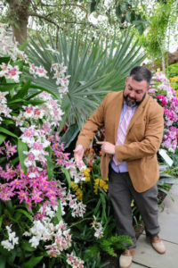 Marc Hachadourian is the Director of the Nolen Greenhouses and Curator of the Orchid Collection. I always learn something new every time I join his tour.