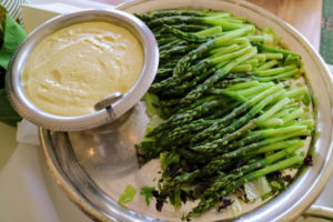 And, this is Steamed Asparagus with Lemon Aioli.