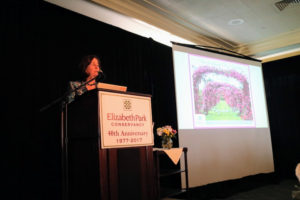Christine Doty, Executive Director at the Elizabeth Park Conservancy, welcomed all the guests to the event.