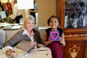 """After the talk and lunch, I conducted a book signing for """"Vegetables"""" - it was a great way to end the event. This little girl is a big fan, and she made this gift for me."""