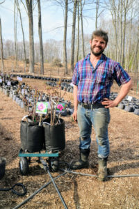 Here is Dan Furman, the son of founder, Kasha Furman. Dan has taken the lead in diversifying Cricket Hill Garden's offerings to include hardy fruit trees and berries for edible landscaping.