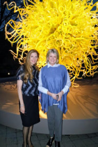 Here I am with Dale's wife, Leslie Jackson Chihuly, President and CEO of Chihuly Studio.