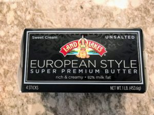 We are also using our favorite butter - Land O'Lakes European Style Super Premium unsalted Butter. It's made with fresh sweet cream and churned for a higher milk fat content. Thanks Land O'Lakes for sponsoring this Facebook LIVE broadcast.