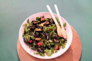 This is a chilled mussel salad from our coastal favorites show - so full of flavor!