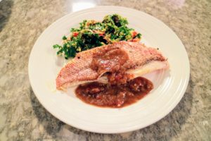 Each dish highlights the local catch, and combines it with mouth watering sauces and sides.