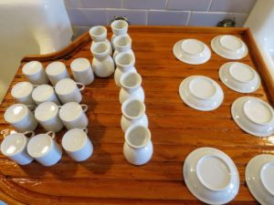 I have many espresso cups, and of course, egg cups - for all the fresh eggs I bring to Skylands from my Bedford, New York farm.