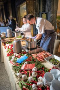 And all the stations were beautifully presented. (Photo by Culinary Institute of America/Phil Mansfield)