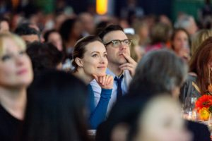 Also at the event - comedian and actor, Jason Sudeikis, and actress, Olivia Wilde. (Photo by Culinary Institute of America/Phil Mansfield)