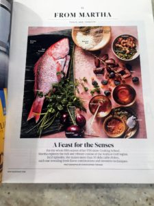 """In this month's """"Living"""" magazine, my column features some of the other tasty recipes from our Arabian Gulf themed season on """"Cooking School"""". You'll love every one of them. Be sure to take a look - the issue is on newsstands now."""