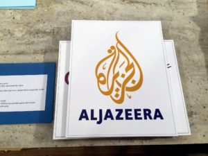 Thank you to our sponsor Al Jazeera owned by the Al Jazeera Media Network. Al Jazeera provides a fresh perspective on news stories from around the world - from more than 65-bureaus and more than 400-journalists from 60-countries. It's a wonderful news source.