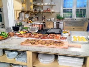"""I am shooting this Facebook LIVE from our New York City headquarters in the Martha Stewart Living """"Turkey Hill Kitchen"""". I love this kitchen – it is so bright and spacious – we use it for many of our Facebook LIVE broadcasts. http://www.homedepot.com/c/SPC_BRD_MSL_Kitchen"""