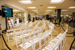 The event was set-up to seat 100-guests in the Home Store of Macy's Roosevelt Field in Garden City, New York. (Photo by Richard Allsopp for Macy's Inc.)