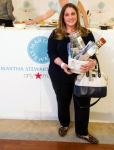 What a lovely raffle prize - lots of Martha Stewart supplies this winner was so eager to use. (Photo by Richard Allsopp for Macy's Inc.)