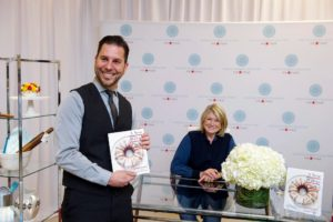 I had the opportunity to talk to people about my products and to learn first hand feedback. This gentleman was so excited to get his book signed - maybe it's a mother's day gift for his mom. (Photo by Richard Allsopp for Macy's Inc.)