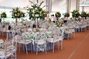The luncheon and awards presentation was held under an elegant white tent. The tables were set in pretty shades of green - perfect for spring. (Photo courtesy of BFA.com)