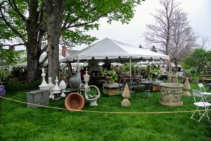 More than 60-vendors and garden antiques dealers from around the northeast region set-up their wares under tents at the LionRock farm. http://www.lionrockfarm.com