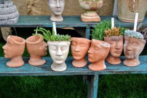 Trade Secrets even had some head planters. There is a lot of energy and spirit at this sale - everyone always walks away with some kind of treasure.