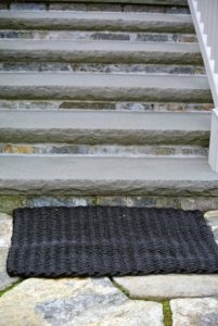This doormat is at the bottom of the steps leading to my Winter House kitchen. These mats are very elegant in their design - guests often ask about them when they visit.