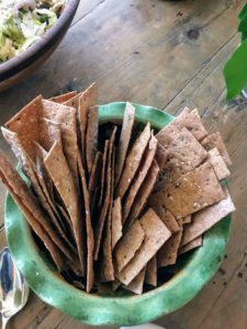 Perfect wheat crackers for the hummus
