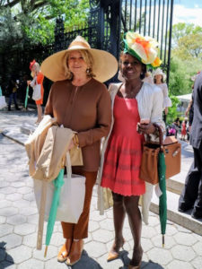 Here I am with television journalist, Deborah Roberts, in her spring ensemble.