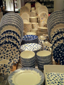 This is the Martha Stewart Stockholm Dinnerware Mix & Match Collection. Vivid blue and white porcelain in modern patterns and designs bring flair to these plates and bowls. goo.gl/7SweMH