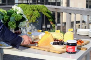 Guests enjoyed an assortment of cheeses from Murray's Cheese in New York. Murray's Cheese is an artisanal cheese and specialty foods retailer and wholesaler founded in 1940. (Photo by Laura Manzano) http://www.murrayscheese.com/