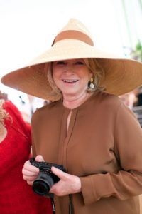 This year, I wore a very wide-brimmed straw hat I bought in Milan. (Photo by Julie Skarratt)