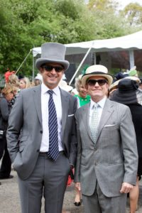 Here are Othon Prounis, and Rich Lightburn in their top hats. (Photo by Julie Skarratt)