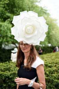 This hat on Stephanie La Nasa caught a lot of attention. (Photo courtesy of BFA.com)