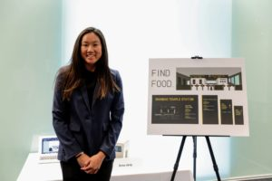 "Finalist Anne's project is called ""Find Food"". It uses special street signs to guide people to neighborhood stores and markets selling healthier eating options. (Photo by Dana J. Quigley Photography)"