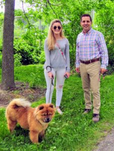Along the way, my executive assistant, Shqipe Berisha, and my property manager, Fred Jacobsen, stopped to say hello to our guests - it was my dear Chow Chow, Peluche, however, that won all the attention.