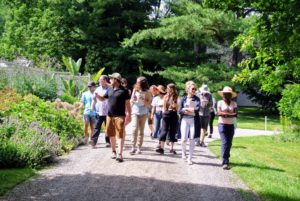 Eric Lieberman, Garden Education Manager for the NYBG, and nearly 15-students, arrived mid-morning for their tour. Ryan explains how my farm has evolved since I purchased the property. This guided walk began in the main greenhouse and my cutting garden.