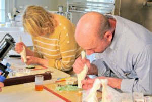We had such a good time making and using fondant - and any scraps of fondant can be rolled and used again.