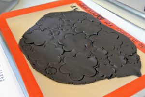 Here are some of the thinner wafer clover shapes I made. The rich chocolate color makes these so beautiful.