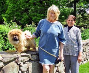 And, I am sure you all recognize Laura. She started working for me here at Turkey Hill - she loves this property so much. She came for this special tour. On the ledge is my four-month old puppy, Empress Chin - she is growing into a gorgeous Chow Chow.