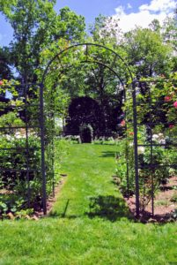 Here is another beautiful arbor leading into another garden.