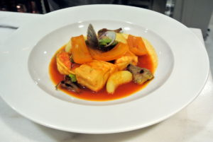The vegetables in the bouillabaisse included fennel, fava beans, artichokes and potatoes. So beautiful, and so tasty.