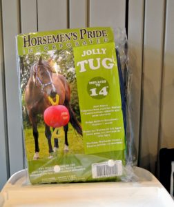My horses and donkeys love to play. The Jolly Tug is a great toy to have out in the paddock - it's durable, water resistant and provides lots of fun.