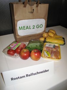 Rostam provided a sample of his Meal 2 Go dinner box that accompanies each lunch.